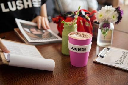 LUSH Cosmetics Photography Keep Cup Sadhana Kitchen
